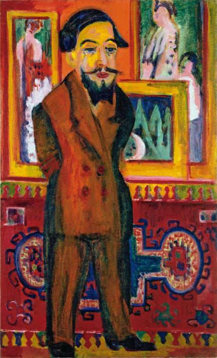 'Portrait of Leon Schames' by Ernst Ludwig Kirchner