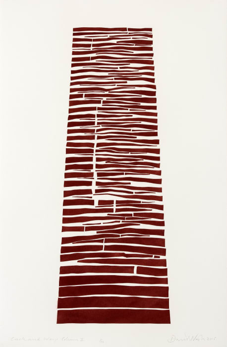 Crack and Warp Column II by David Nash