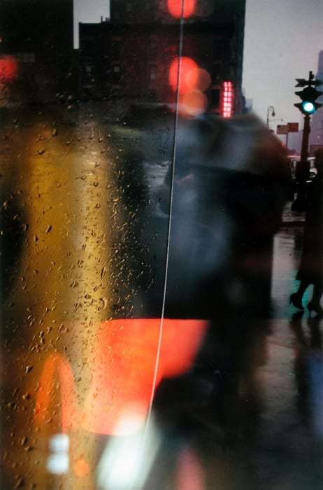 Walk with Soames by Saul Leiter