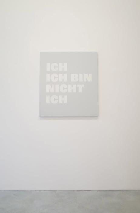 ICH/ ICH BIN/ NICHT/ ICH, NB 86a (2) by Rémy Zaugg