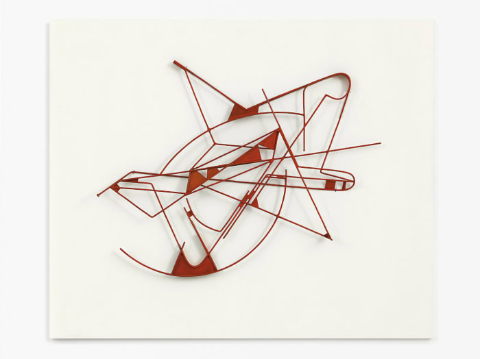 Rotes Metallrelief by Walter Bodmer