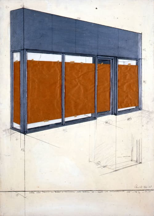 Store Front by Christo & Jeanne-Claude