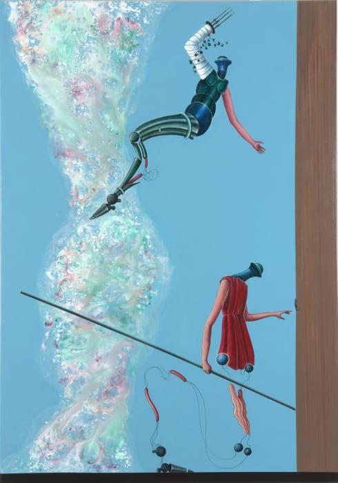 Da stürzt die erste Gestalt des Selbstbewußtseins (Hirtin) von einem Absatz in die Tiefe by Nader Ahriman