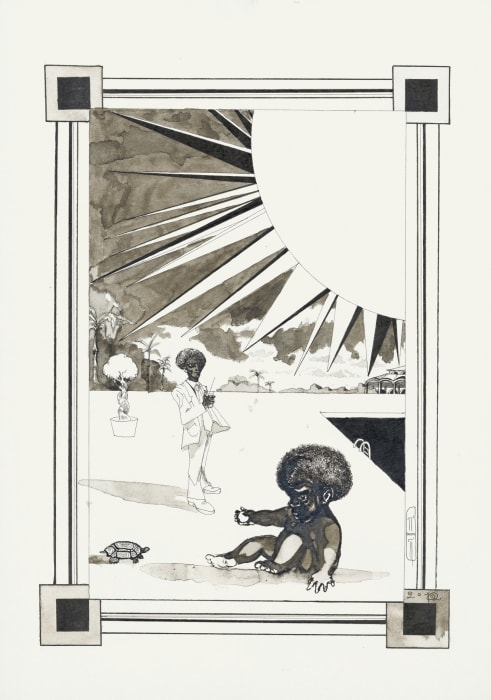 The Cold Centre of the Sun (illustration for the book The Secret of Our Time) by Pavel Pepperstein