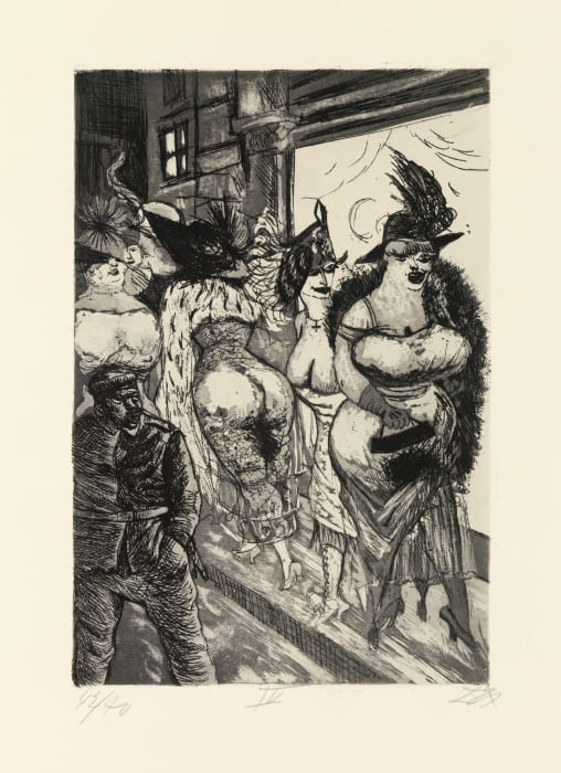 Frontsoldat in Brüssel by Otto Dix