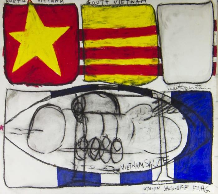 JACKOFF FLAG by Judith Bernstein