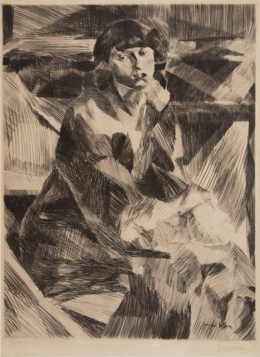 Portrait de Jeune Femme by Jacques Villon