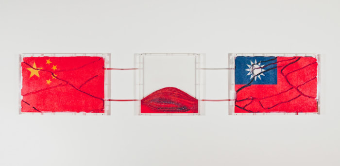 "National Flags series ""Two Chinas"" by Yukinori Yanagi"