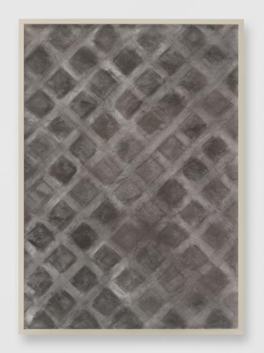 Untitled (Lattice, Charcoal Soil Amender) by Sam Falls