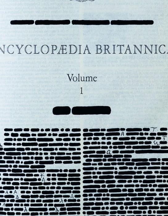 Encyclopedia Britannica by Emilio Isgrò