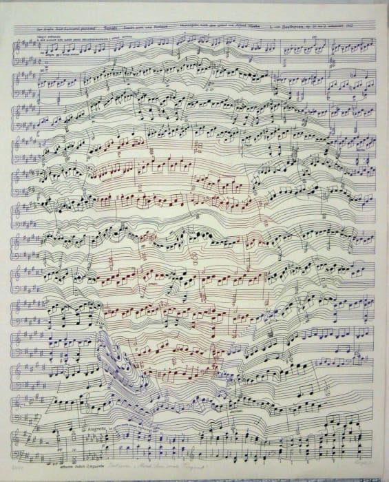 "Beethoven ""Mondscheinsonate"" (violette Version) by Thomas Bayrle"