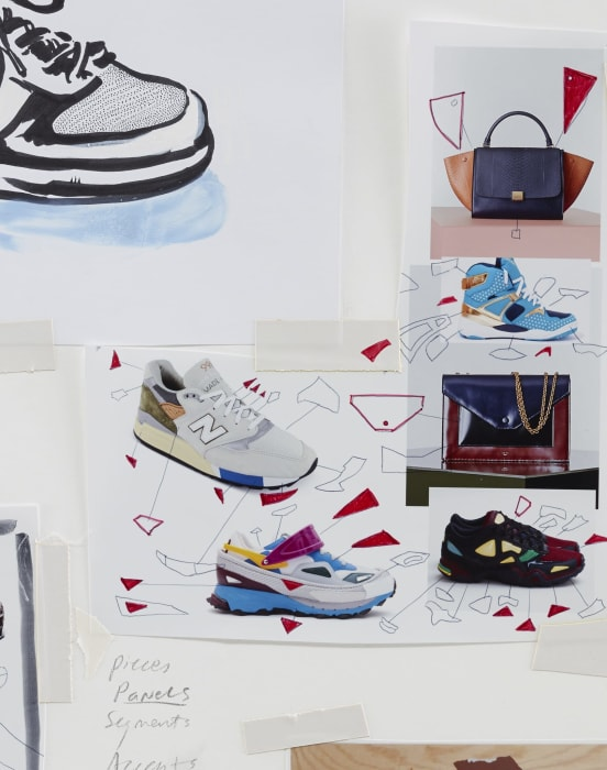 Study for Multiethnic Footwear/Handbag by Seth Price