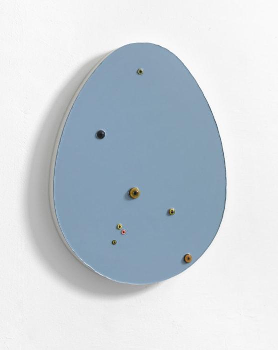Untitled (Egg / Grey-Blue) by Thomas Grünfeld