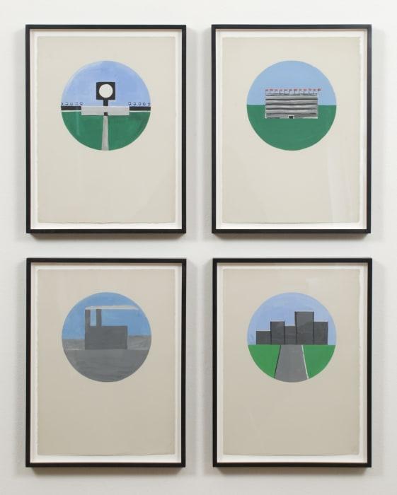 Untitled (Gouache Studies) by Matt Mullican