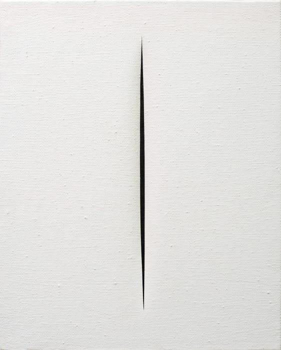 Concetto Spaziale, Attesa by Lucio Fontana
