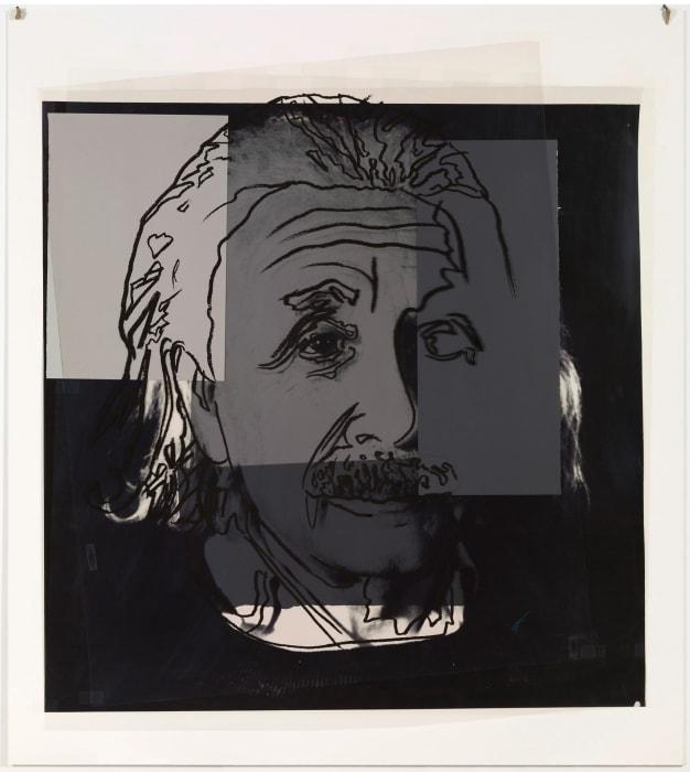 Ten Jews of the 20th Century: Albert Einstein by Andy Warhol