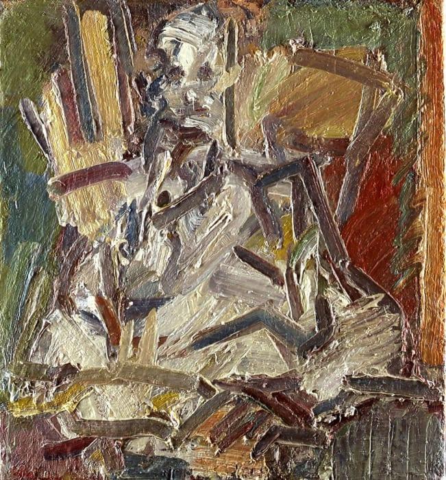 David Landau Seated by Frank Auerbach