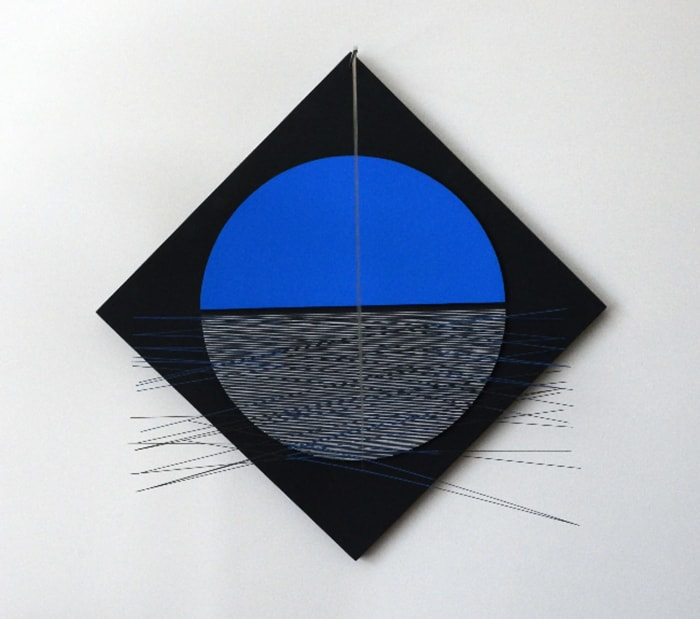 Rombo Azul y Negro by Jesús Rafael Soto