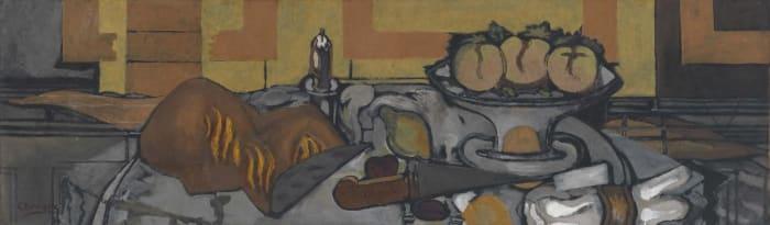 Compotier aux trois pommes by Georges Braque