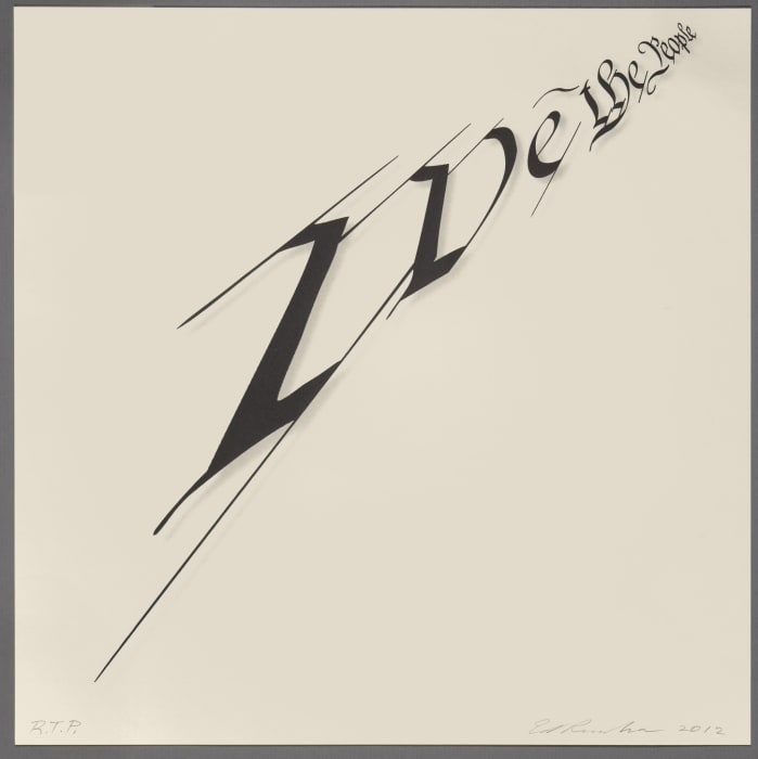 We the People by Edward (Ed) Ruscha