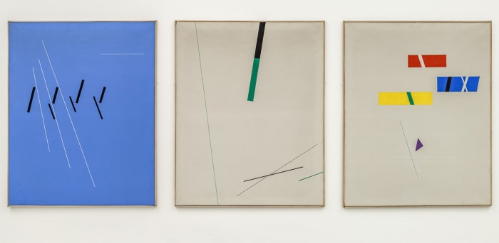 Composition No. 167 (a triptych) by Friedrich Vordemberge-Gildewart