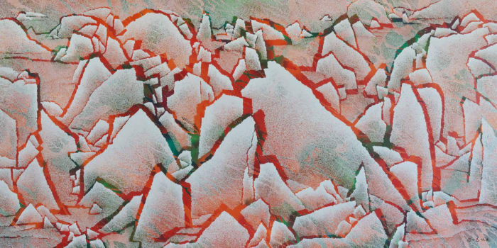 Fissuring Landscape by Qiu Deshu