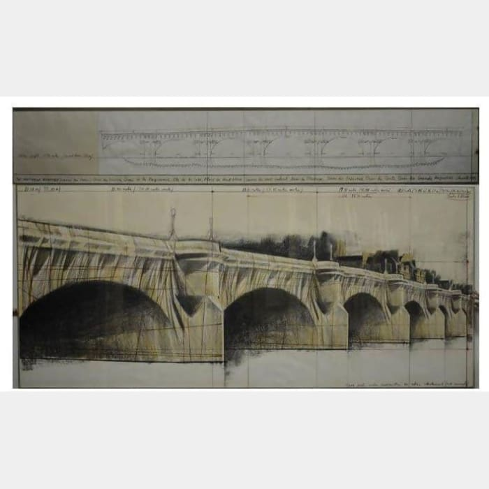 Pont Neuf Wrapped, Project for Paris by Christo