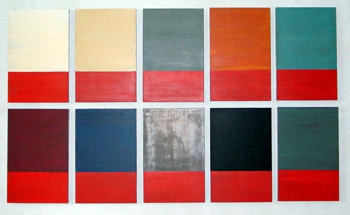 Untitled, 10 parts by Günther Förg