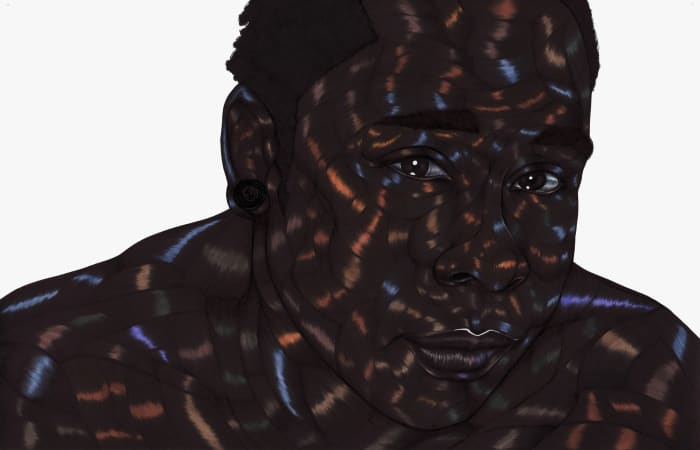 The Casting of Oil and Water II by Toyin Odutola
