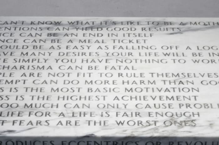 Truisms: A Man Can't Know... by Jenny Holzer