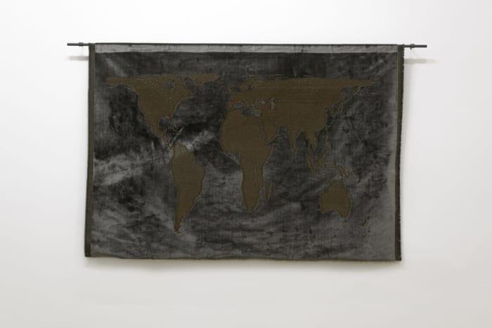 Projection (velvet) by Mona Hatoum
