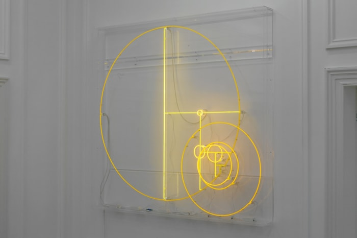 Divisions (Yellow Lines and Yellow Circles) by Carsten Höller