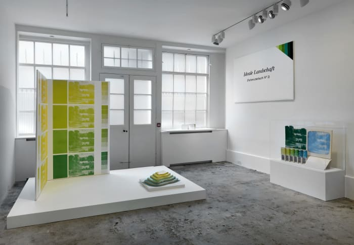 Works from the Ideale Landschaft (Ideal Landscape) series, installation view, Raven Row, London, 2014 by KP Brehmer