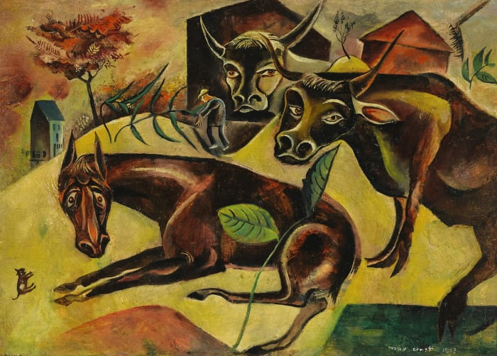 Horse and Cows by Max Ernst
