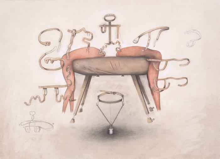 Untitled (to vault over the bock) by Birgit Jürgenssen