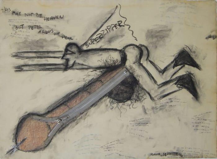 SUPERZIPPER by Judith Bernstein