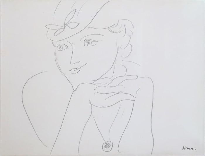 'Buste de femme au chapeau' by Henri Matisse