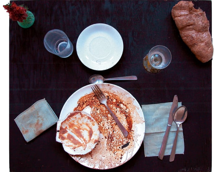 Variations on a meal eaten by Bob Rosenblum by Daniel Spoerri