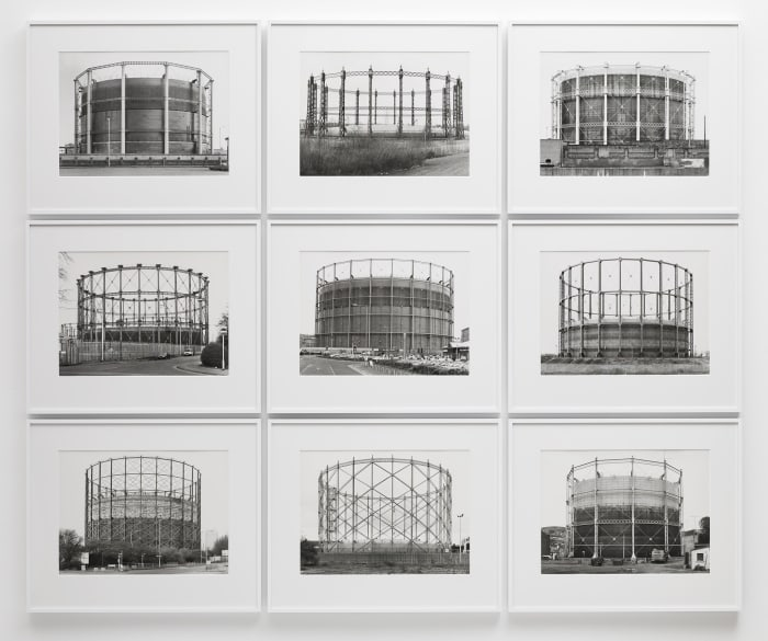 Gasometers by Bernd & Hilla Becher