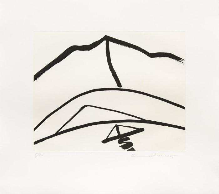 Montagne 3 by Etel Adnan