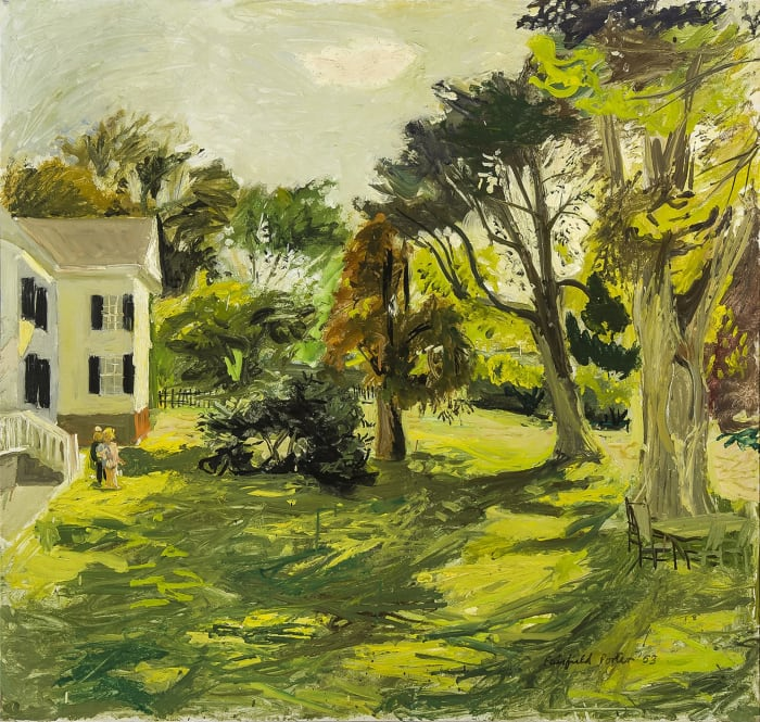 Katie and Jacob in the Yard by Fairfield Porter