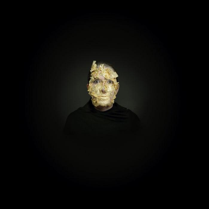 Portrait with Golden Mask by Marina Abramović