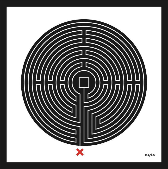 Labyrinth #142 Bank by Mark Wallinger