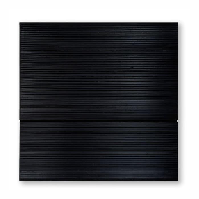 Peinture 165 x 165 cm, 14 avril 1997 by Pierre Soulages