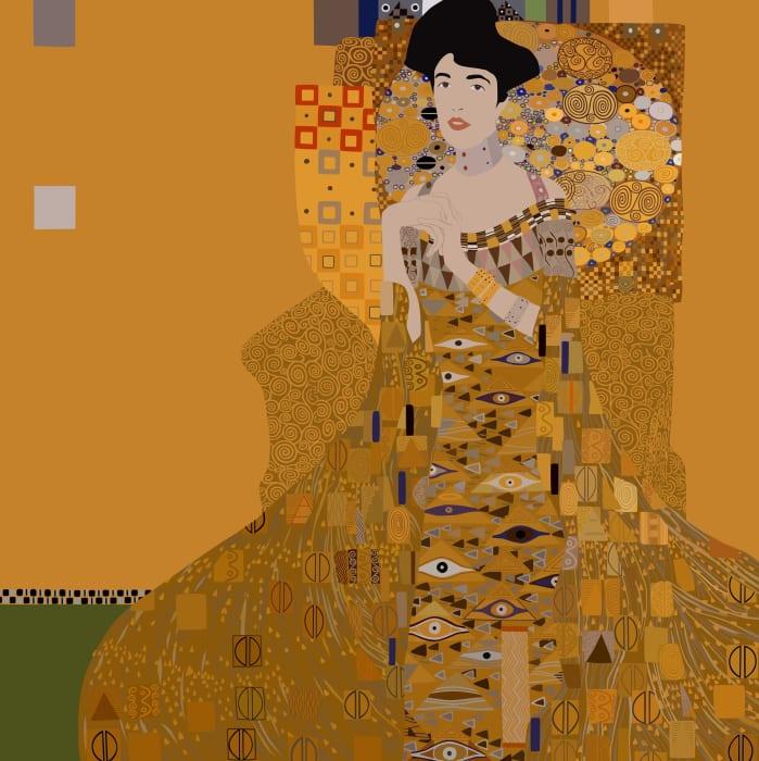 Adele Bloch-Bauer I (by Gustav Klimt) by Kota Ezawa