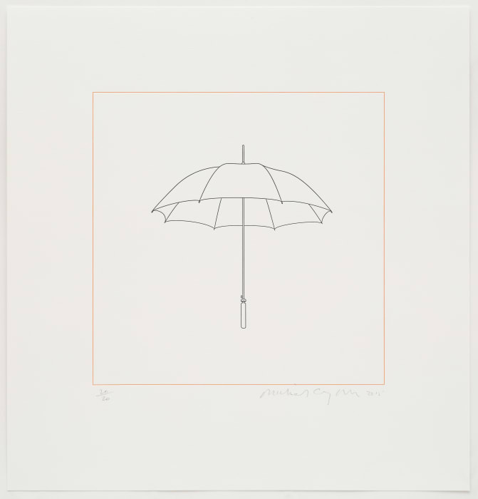 Umbrella by Michael Craig-Martin