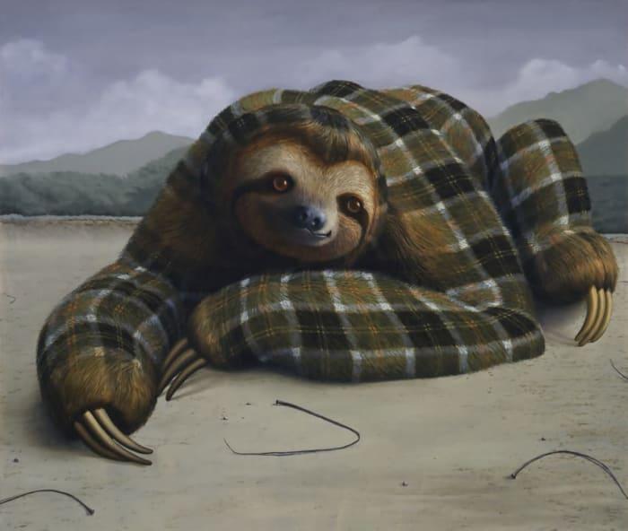 Three-Toed Sloth by Sean Landers