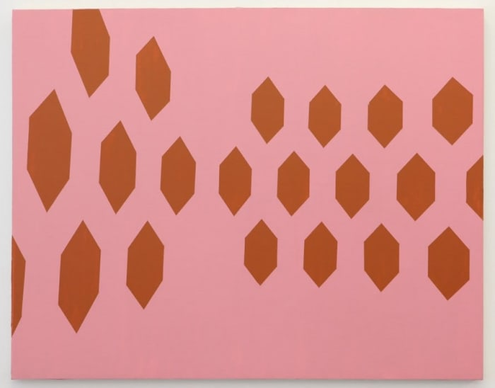 Melnikov, rose and rust by David Diao