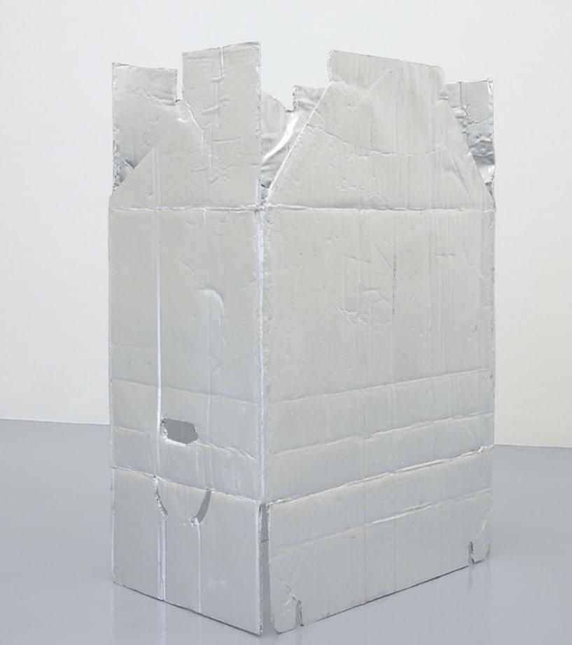 Moving Box freestanding VIII (Silvered) by Jürgen Drescher