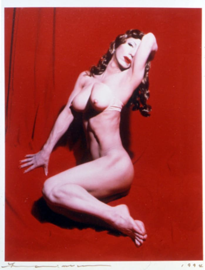 Self-Portrait (Actress) / Red Marilyn by Yasumasa Morimura